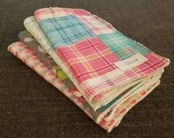 Custom Baby Snuggly Flannel Burp Cloths