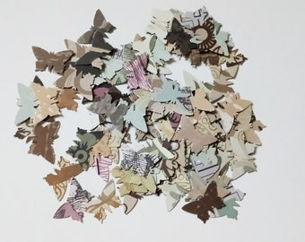 Handmade vintage style butterfly wedding confetti