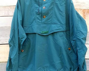 Vintage / columbia / green jacket / hoodie / kangaroo pocket