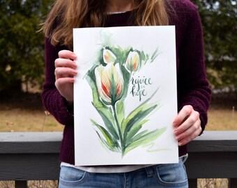 Rejoice in Hope - Watercolor Art Print