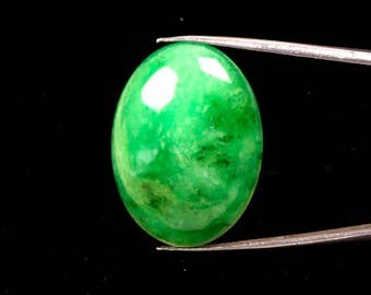 30.60 Carat. Natural Green Quartz Oval Cabochon Semi-Precious Loose Gemstones Fine quality Stone -- 30x22 -- mm Ki-14756