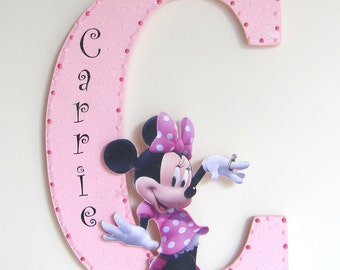 Minnie Mouse Letter Personalised