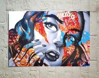 Bioshock Infinite graffiti girl propaganda video game decor poster