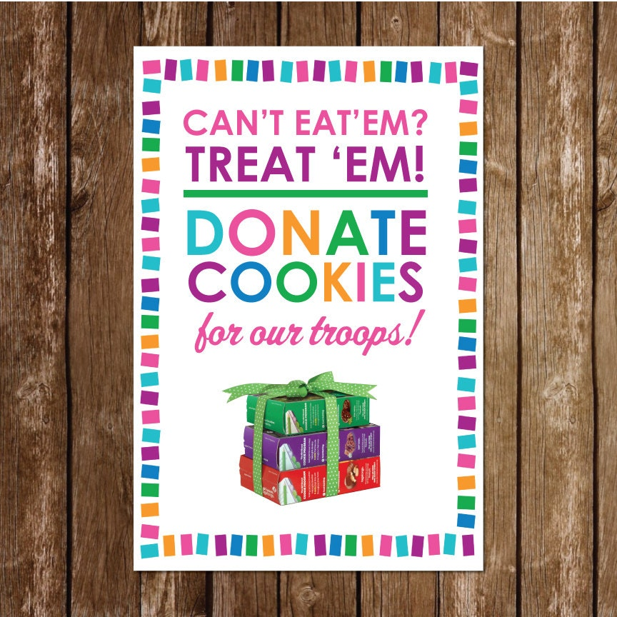 20 x 30 girl scout donate cookies sign operation cookie drop