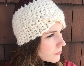 Color Block Crocheted Hat