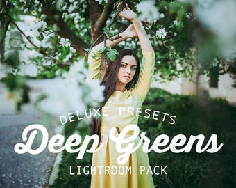 Deep Greens Lightroom Presets for Adobe Lightroom Photography Editing with Stunning Results