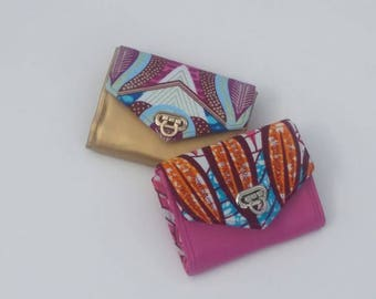 CUSTOM made mini purse/wallet with card slots and zipped coin pocket