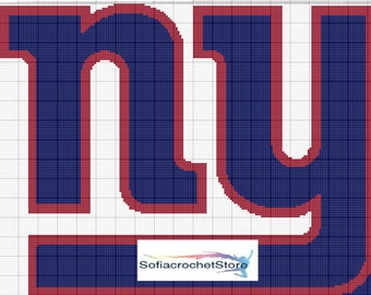 GRAPH PATTERN New York Giants Crochet Blanket
