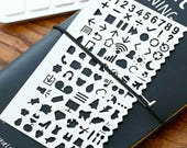 Planner Stencil Icons- Stainless Steel- Planner/Scrapbook/Journal Numbers