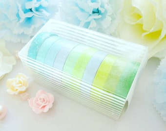 Nature Washi Tape Set Green Yellow Blue Stationery Masking Deco Tape