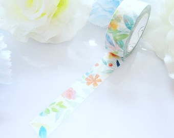 Floral Watercolour Washi Tape Stationery Masking Deco Tape