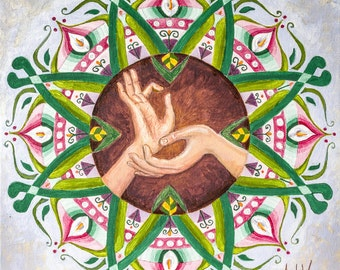 Mandala. On-frame canvas
