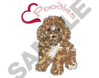 Love Poodles - Machine Embroidery Design