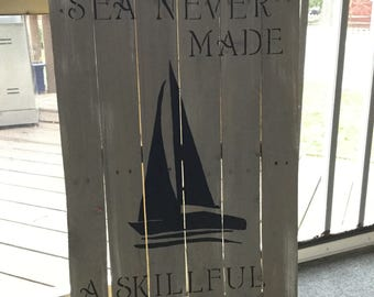Large Nautical Pallet Art Sailing Coastal