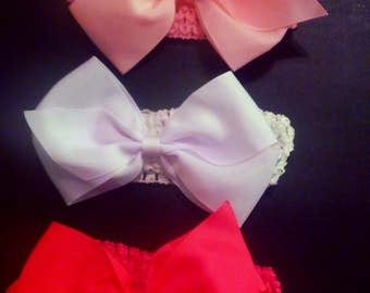 Three pretty bows are for any occasions