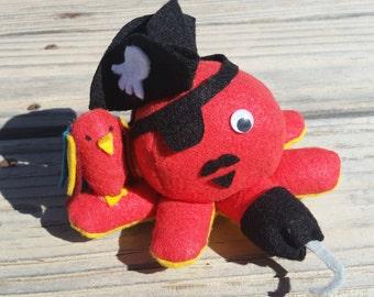 Octopirate- Felt Plush Octopus