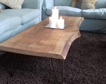 Rustic Reclaimed Oak Coffee Table Industrial Legs