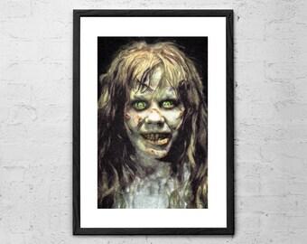 Regan Macneil - Painting - Exorcist - Horror - Movie Poster - Creepy - Scary - Horror Art - Horror Movie - Gothic - Demon - Satan - Dak Art