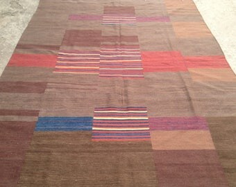 ARTICLE # 6014 Special High Quality Stripped Hand Made Wool Kilim Rug 286 x 200 CM ( 9.4 x 6.6 Feet)
