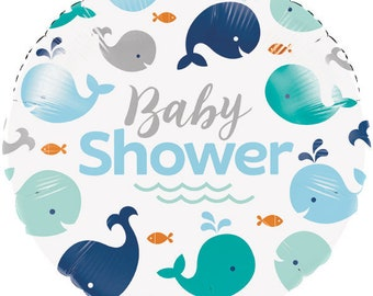 Sweet Baby Whale Balloon/ Baby Boy Whale Baby Shower Balloon/ Whale Party Balloon/ Whale Baby Shower
