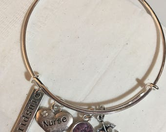 Registered nurse charm bracelets