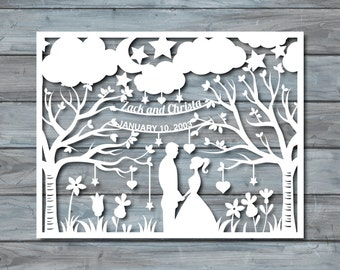 Items similar to paper cutting cute nostalgic mobile for Paper cut out art templates