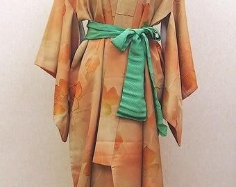 Flower gradation kimono robe / vintage Japanese kimono