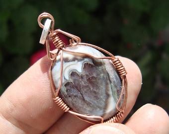 agate pendant rustic jewelry