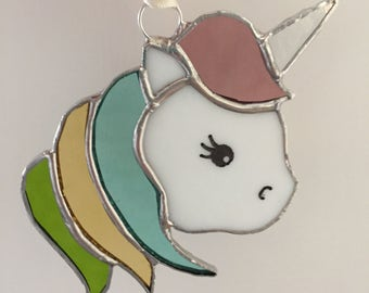 Unicorn Stained Glass Light Catcher