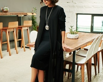 SALE/ SALE DRESS/ Black Dress/ Chiffon Dress/ Elegant Dress/ Fall Dress/ Lycra Dress/ Long Sleeve Dress/ Knee Length Dress/ Fitted Dress