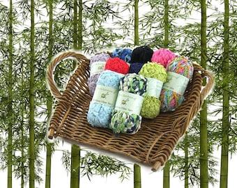 Bamboo Fiber Blend Yarn, Bulky, 2 x 100g  Skein Bulky
