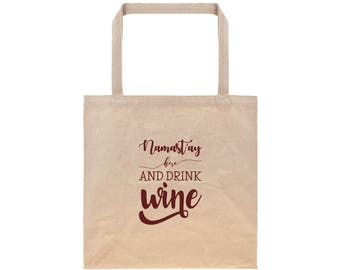 Tote Bags For Grandmother Wedding Gifts for Her Reusable Grocery Bag Canvas Tote Bag Cotton Tote Bag Wine Typography
