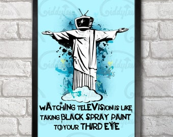 Bill Hicks TV Quote Poster Print A3+ 13 x 19 in - 33 x 48 cm  Buy 2 get 1 FREE