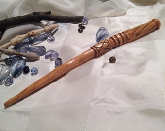 Hand Carved Magic Wand/Potter, Druid, Pagan, Wicca, Spell Casting