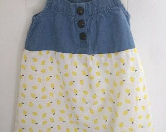18-24 Months Girls Dress Lemons and Jean Shabby Chic Sundress