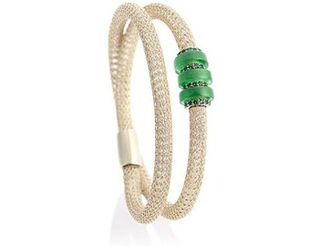 Emerald on Ice Gold Duo Bracelet