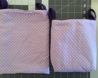 Purple 2 piece pouch set