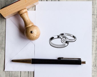 Stamp wedding, wedding rings, rings, wedding stamps, stamps for invitations, wood stamp