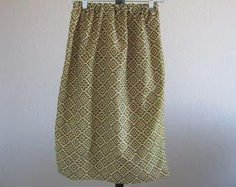 Womens Gold Geometric Skirt