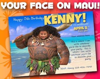 Moana birthday invitation; maui birthday invitation; printable birthday invitation