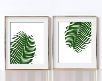 Green Fern Print Tropical Art Digital Download Fern Printable Tropical Printable Green Poster Botanical Poster Botanical Printable Botanical