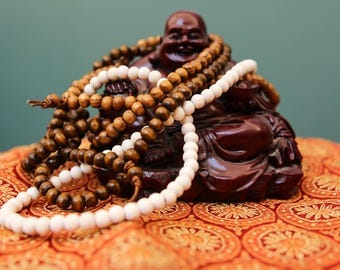 Wooden Mala Beads Necklaces