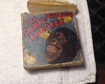 The Chimp's Jamboree #614 Castle Films 16MM w. original Box