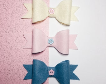 Button Bows (Pack of 3)