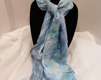 Ice dyed scarf- Ocean Spray