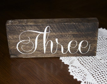 Rustic Wood Wedding Table Numbers