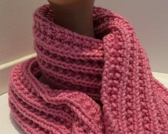 Carnation pink scarf