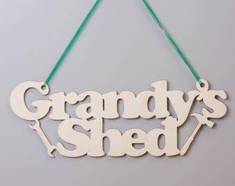 Birchwood Grandads Shed Hanging Sign