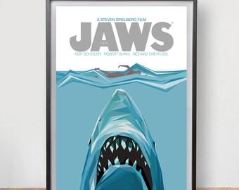Jaws (1975) Dix Fan Fiction - Cubist Illustration
