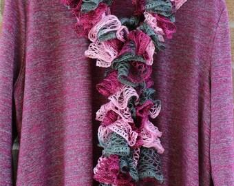 Ruffled scarf - ruffle scarf - scarf with ruffles - sashay ruffle scarf - frilly scarf - lacy scarf